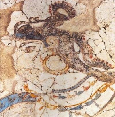 Σκουλαρίκια από τις τοιχογραφίες της Σαντορίνης - Ενώτια