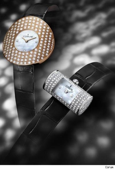 Γυναικείο ρολόι Corum χρυσό με διαμάντια